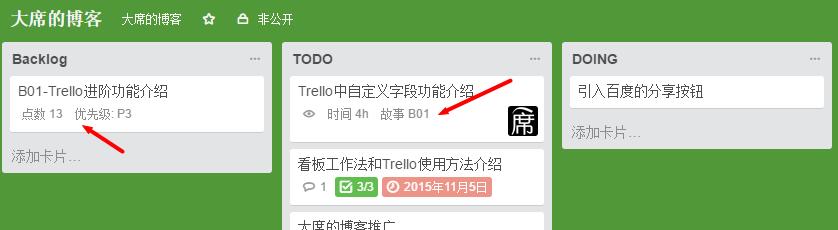 利用Trello的自定义字段功能实现SCRUM中的任务贴